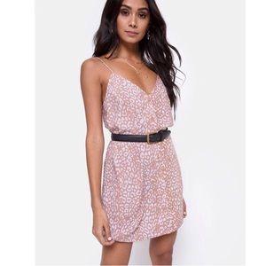 • LAST 2 • Sanna Slip Dress Leopard Spot - PINK